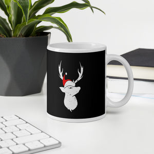 Christmas Pajama Deer With Santa Hat Mug For Deer Hunting