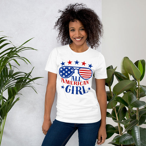All American Girl 4th of July Gifts T-Shirt