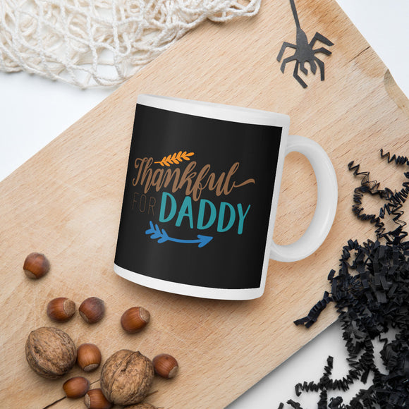 Thankful For Daddy Thanksgiving And Fall Mug