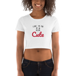 I Know I Am Qute Panda Lover Funny Women's Crop Tee
