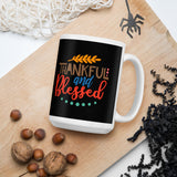 Thankful And Blessed Thanksgiving And Fall Mug