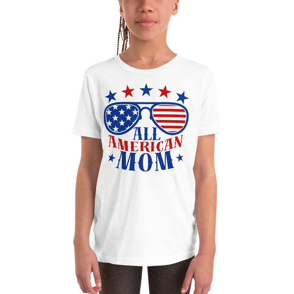 All American Mom 4th of July Gifts T-Shirt For Kids And Youth