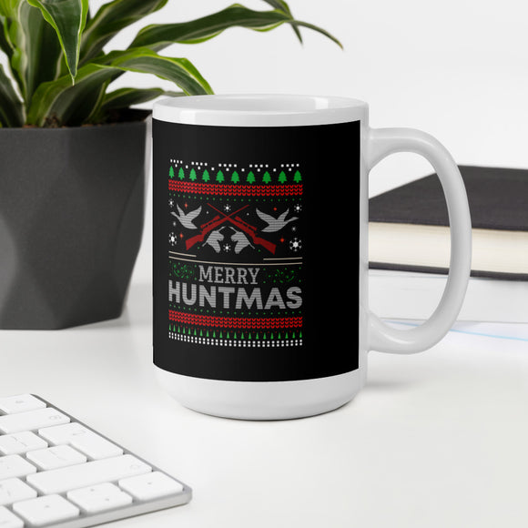 Merry Huntmas Waterfowl Hunting Christmas Ugly Gift Mug