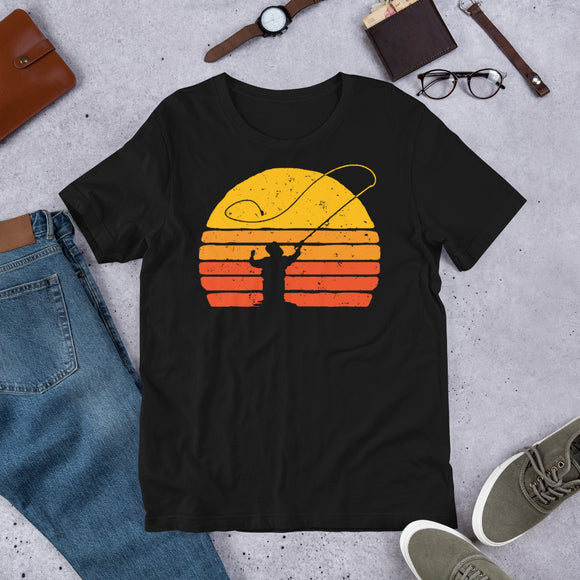 Fly Fishing Retro Vintage Distressed Fishing Unisex T-Shirt