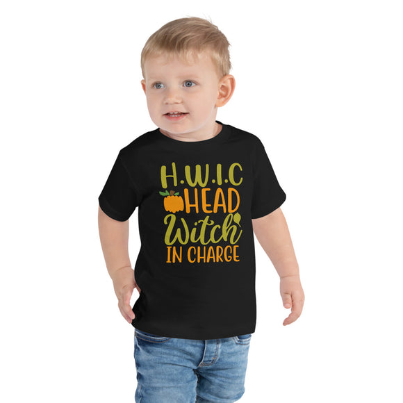 Hwic Head Witch In Charge Halloween Toddler Short Sleeve Tee