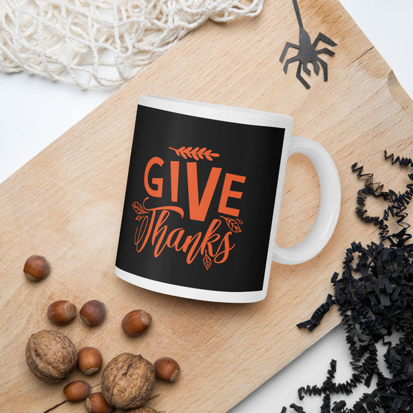 Give Thanks Gift Thanksgiving And Fall Mug