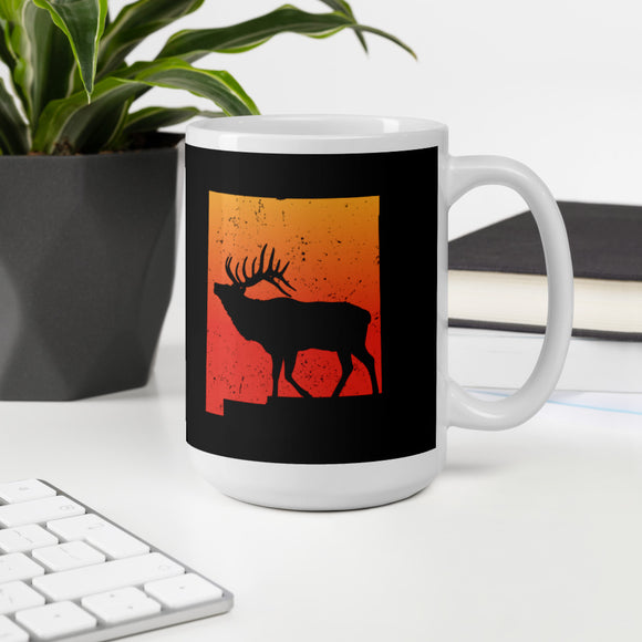 Vintage New Mexico Elk Hunting Retro Outdoors Gift Mug