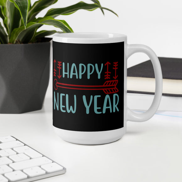 Happy New Year Christmas Pajama Mug