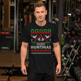 Duck Hunting Funny Merry Huntmas Hunters Ugly Christmas Unisex T-Shirt
