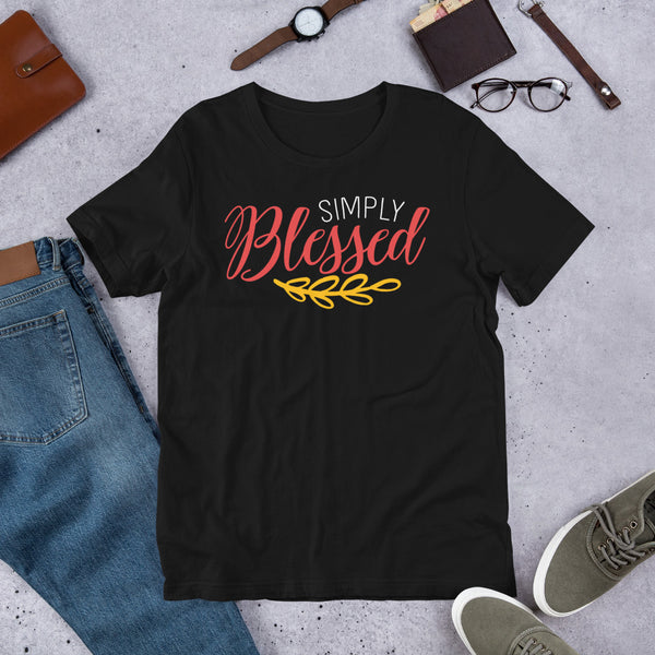 Simply Blessed Thanksgiving And Fall Unisex T-Shirt