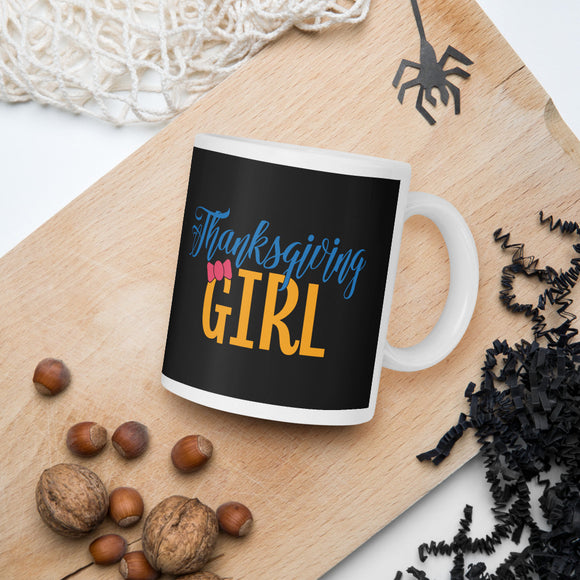 Thanksgiving Girl Fall Mug