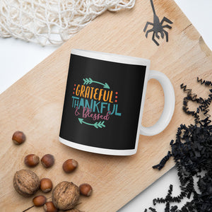 Grateful Thankful and Blessed Thanksgiving And Fall Mug