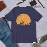 Deer Hunting Pumpkin Halloween Gift Unisex T-Shirt