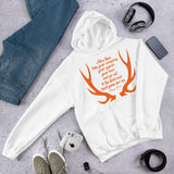 Big Tall Orange Shed Hunting Gift Unisex Hoodie