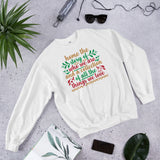 Home The Story Of Who We Are And A Collection Of All The Things We Love Ugly Christmas Unisex Sweatshirt