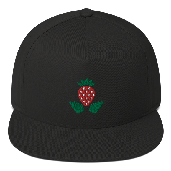 Strawberry Flat Bill Cap