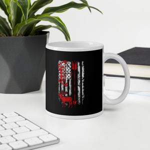 Bow Hunting USA Flag Hunting Season Mug