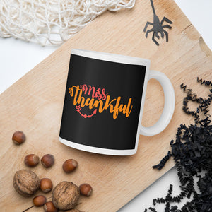 Miss Thankful Thanksgiving And Fall Mug