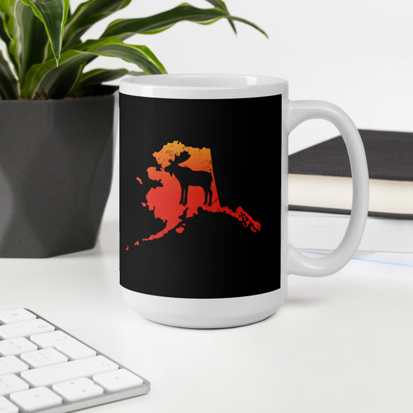 Alaska Moose Hunting Bow Hunter Mug