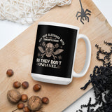 Hem Your Blessings With Thankfulness So They Don't Unravel Thanksgiving Day And Fall Mug