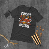 Sundays Are For Jesus And Football Halloween Short-Sleeve Unisex T-Shirt