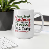 Farm Fresh Christmas Trees Cut And Carry Christmas Festive Mug