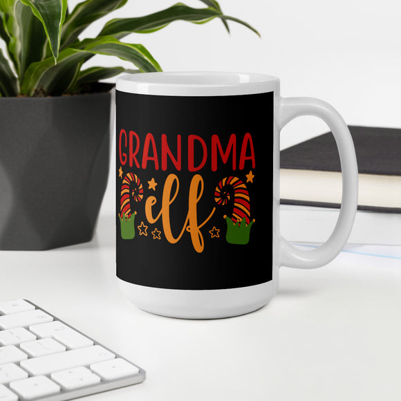 Grandma Elf Ugly Christmas Mug