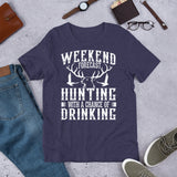 Weekend Forecast Hunting With A Chance Of Drinking Funny Unisex T-Shirt