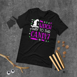 Witch Way To The Candy Halloween Short-Sleeve Unisex T-Shirt
