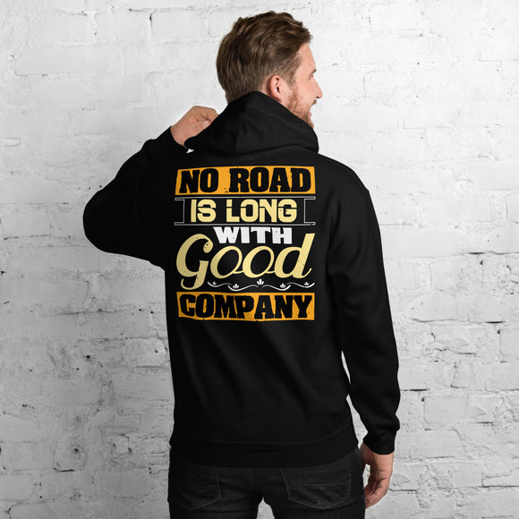 No Road Is Long With Good Company Best Friend Unisex Hoodie