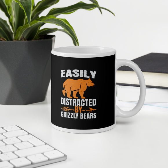 Easily Distracted By Grizzly Bears And Bear Gift Mug