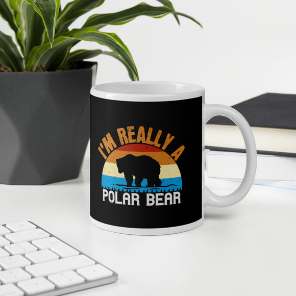 I'm Really A Polar Bear Funny Bear Gift Mug