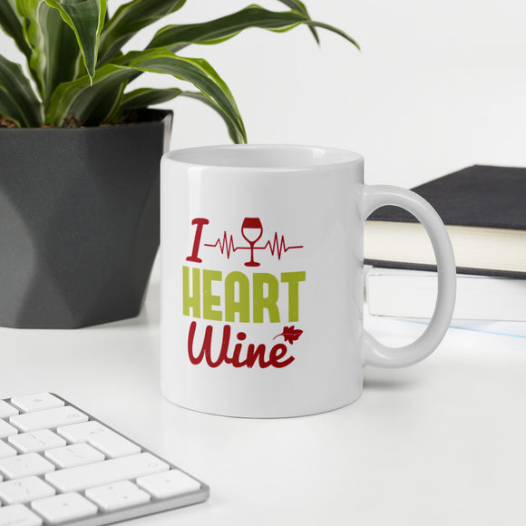 I Heart Wine Lover Gift Mug