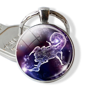 12 Constellations Keychain