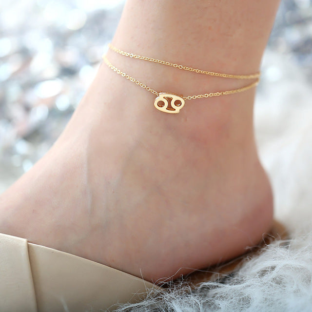 Zodiac Sign Anklets for Women
