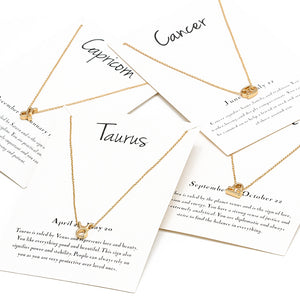 Zodiac Sign Necklaces Set