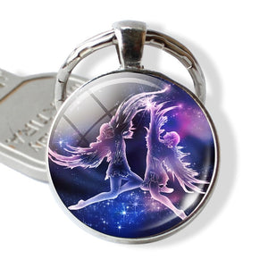 Zodiac Constellations Keychain