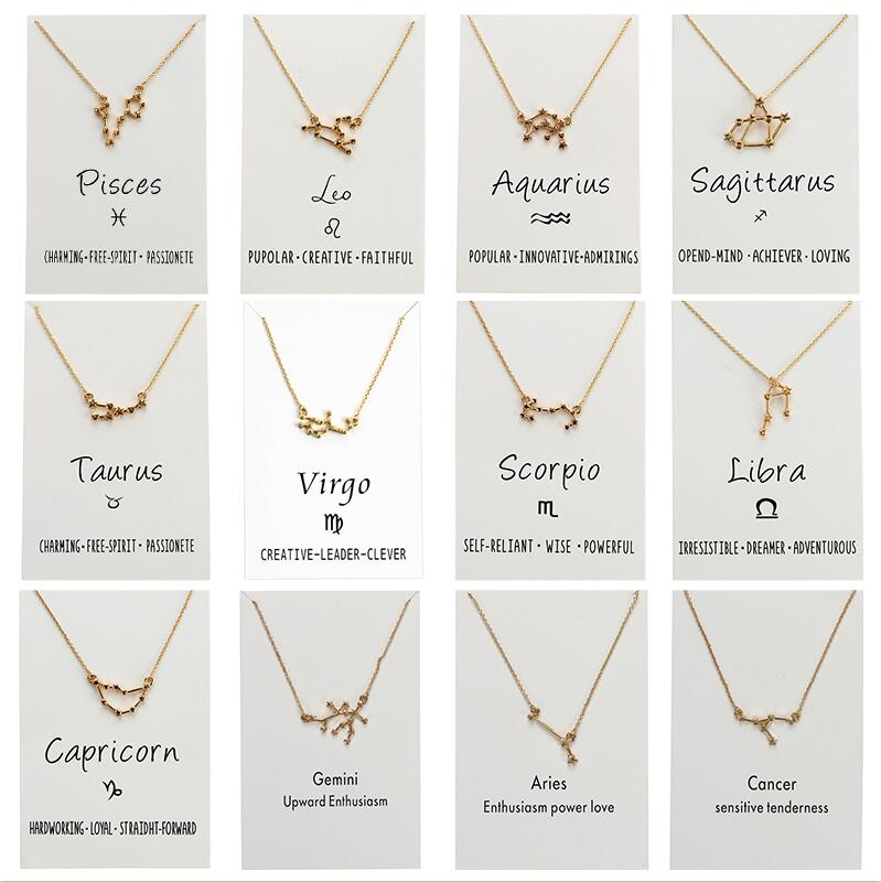 Star Zodiac Sign Constellations Necklaces