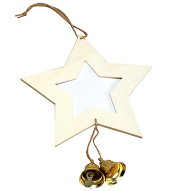 Star Photo Frame with Bells Pack of 10