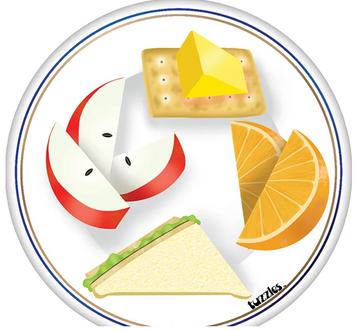Food Plate Snacks Knob Puzzle 4 Pieces