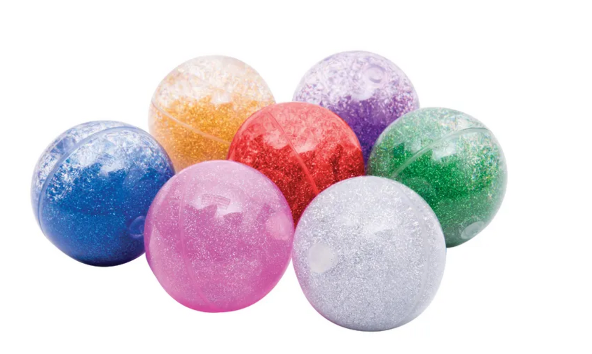 Sensory Rainbow Glitter Balls Set of 7