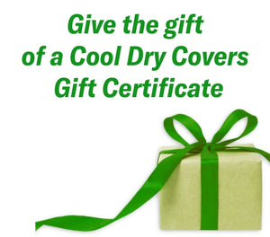 Cool Dry Covers Set for Golf Cart Gift E-Card