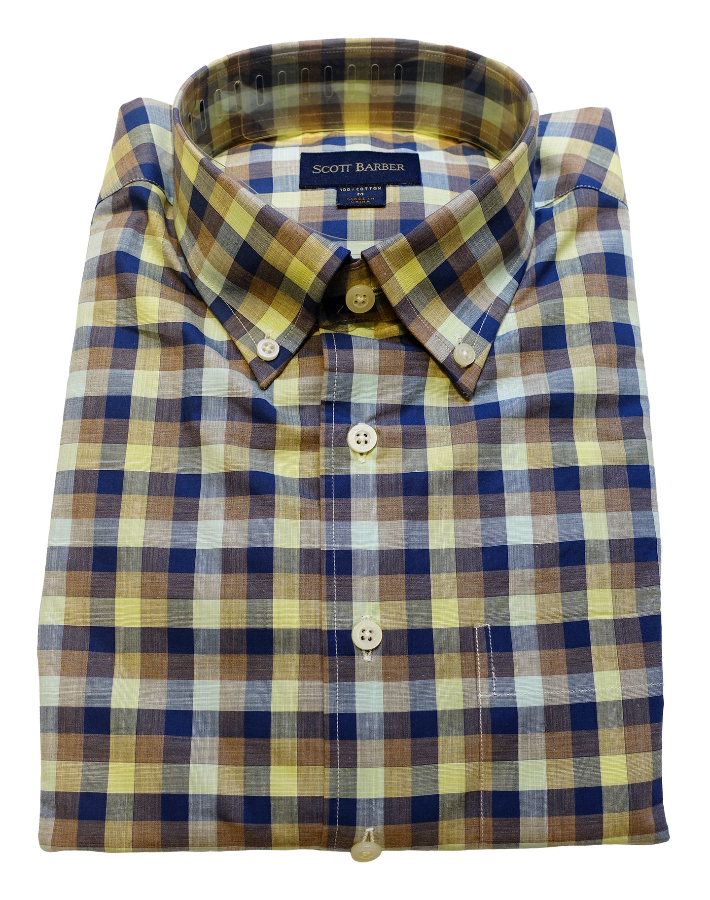 Button Down Sport Shirt - Multicolor Check