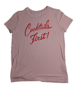 Cocktails First! Tee