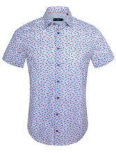 Load image into Gallery viewer, Parrot Print Sport Shirt - Blue