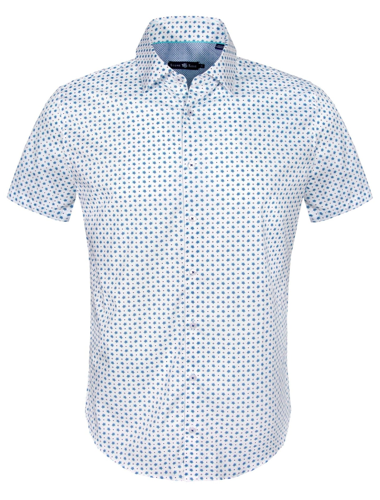 Turtle Print Sport Shirt - White