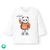 MAYORAL BABY 'HELLO THERE' PANDA GRAPHIC SHIRT