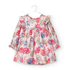 MAYORAL BABY MICROCORD PRINTED DRESS