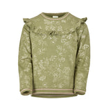 ENFANT BOTANICAL RUFFLE SWEATER