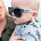 BABY BOY WITH BABIATOR SUNGLASSES